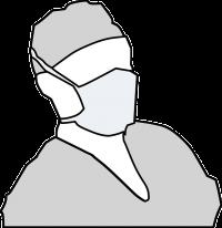 手術を執刀する医者のイラスト